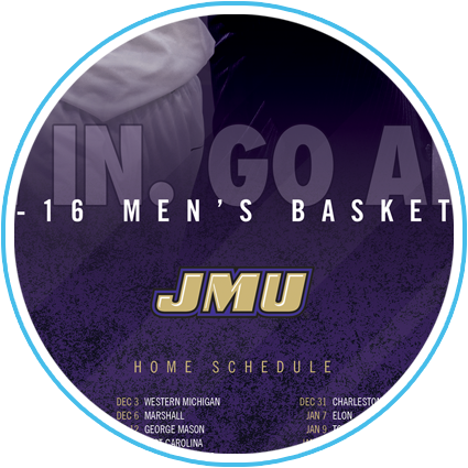 JMU Men's Basketball Poster