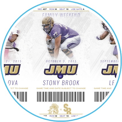 2015 JMU Football Ticket Sheet