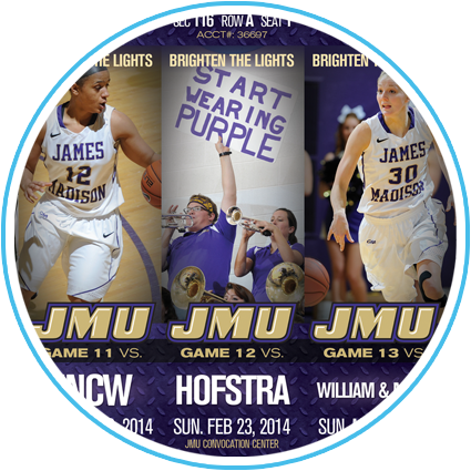 2013-14 JMU Women's Basketball Ticket Sheet