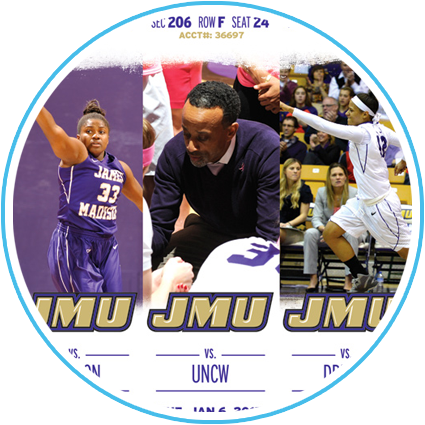 2014-15 JMU Women's Basketball Ticket Sheet